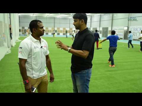 Former India player & Australia's spin consultant Sriram at launch of Cricket Drome Indoor Facility