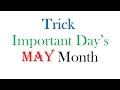 Important Days From May Month