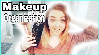 HOW TO ORGANIZE MAKEUP💄 /COLLAB WITH THE BUSY BEEZZZ🐝