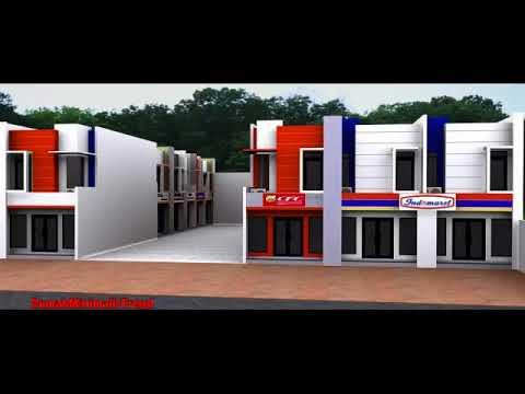 desain ruko minimalis 1 lantai, 2 lantai & 3 lantai