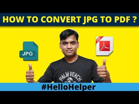 How To Convert JPG To PDF In Windows 10 -  Save Image To PDF