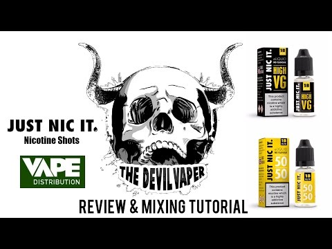 Just Nic It Nicotine Shots - Review & Mixing Tutorial