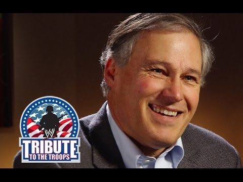 The Governor of Washington, Jay Inslee is interviewed at WWE's Tribute to the Troops