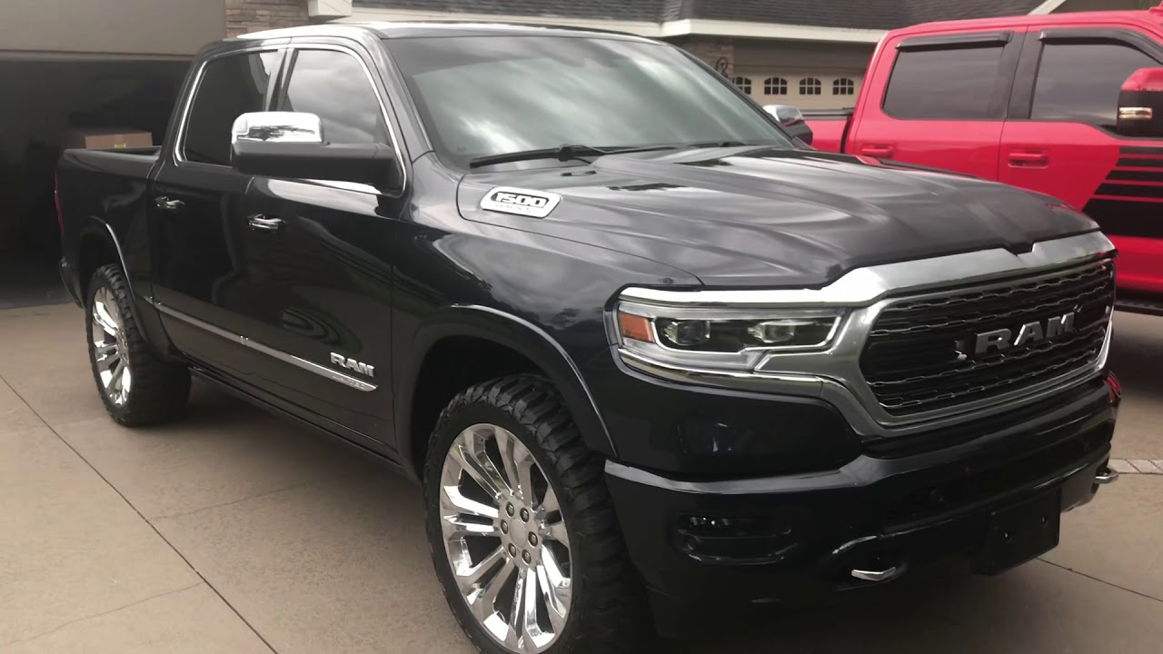 2019 Ram 1500 limited with 35/12.5/24 wheels and tires ...