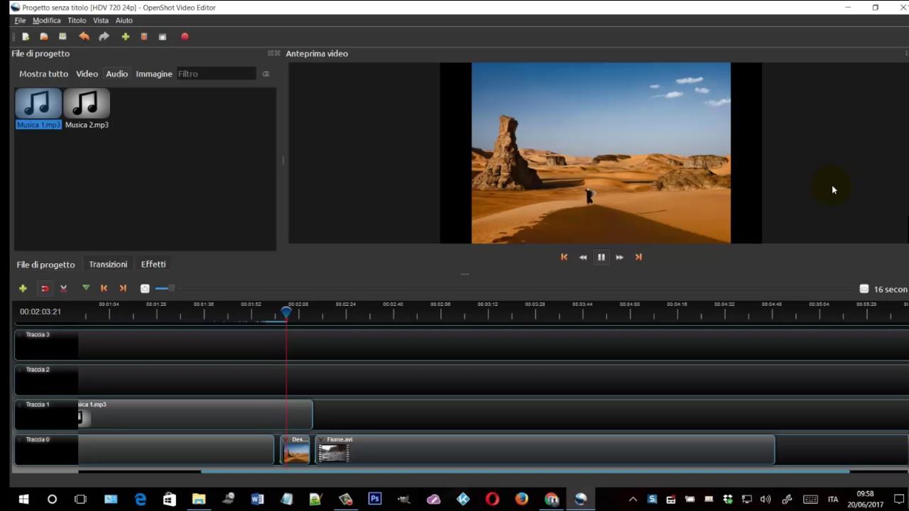 Ottimo programma open source per editare video in post produzione