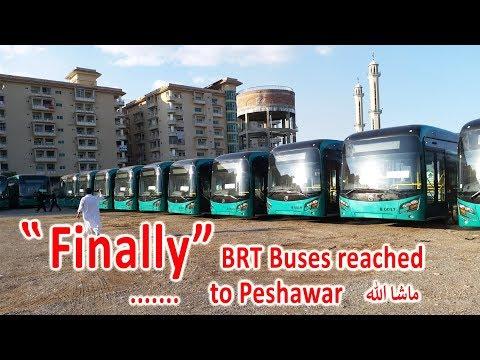peshawar BRT latest video | BRT buses reached to peshawar