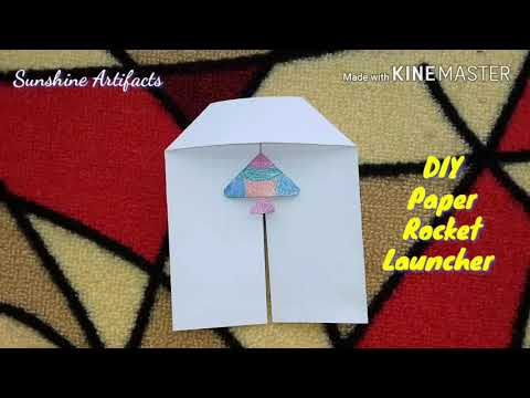 Origami Simple Paper Rocket Launcher/ Kids craft/ 5 minutes craft / Very easy to make/#69