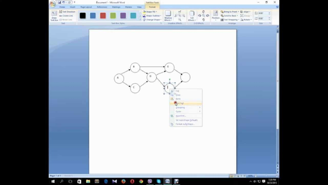 How to make a Network Diagram in Microsoft Word  YouTube