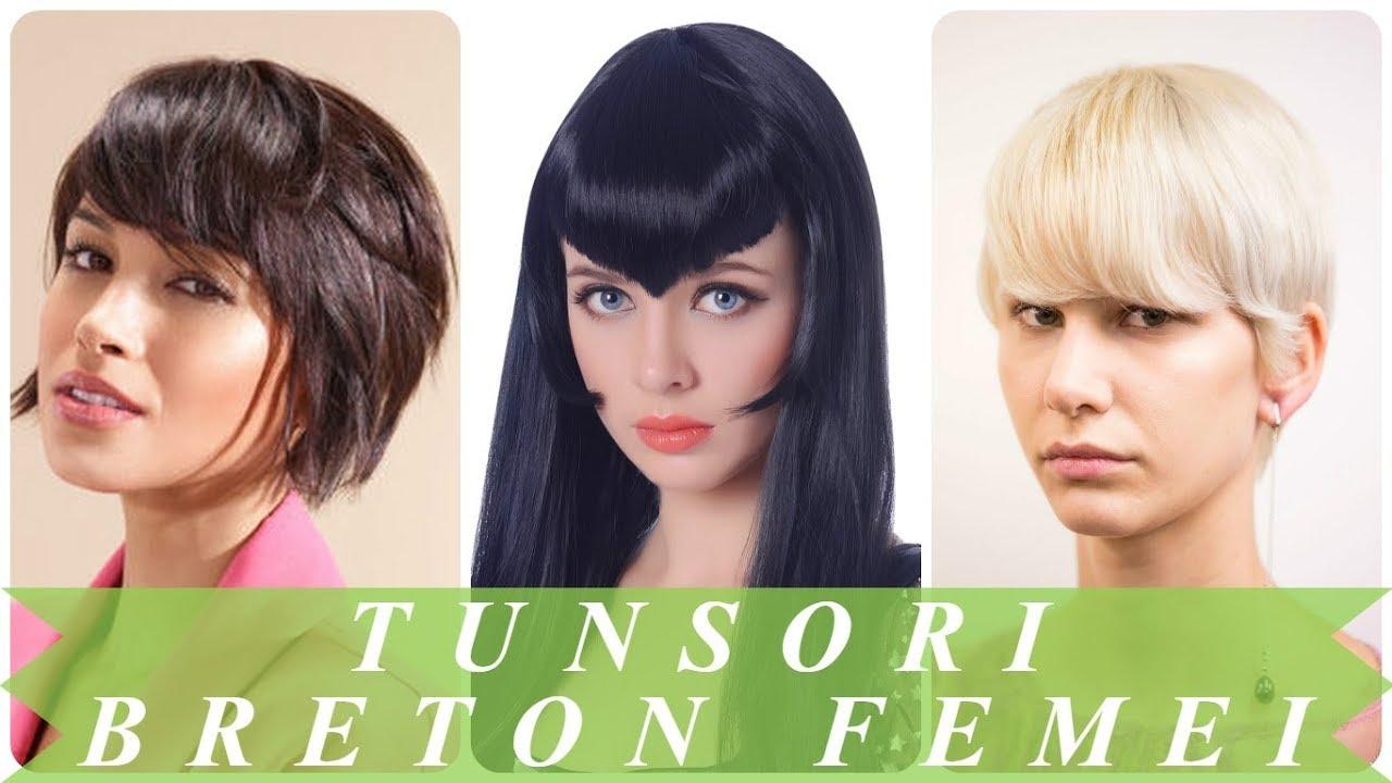 Modele De Tunsori Breton Femei 2018 Youtube