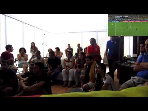 Germany vs. Argentina 2014 World Cup Final - 113' Mario Götze Goal Reaction and Celebration