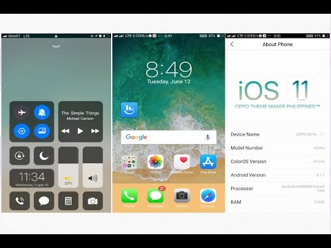 OPPO (ColorOS)#Theme IOS 11  OPPO a3s a37 f7 by Ritik technical support