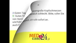 Lekcja 5 język niemiecki darmowy kurs języka niemieckiego Medcare24