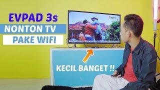 TV BOX INI KECIL BANGET !! Nonton TV Pake Wifi tanpa ANTENA~ Unboxing EVPAD 3S Tv Box 8 Core CPU