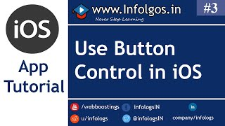 iOS Application Development - How to use Button in xCode - Tutorial 3
