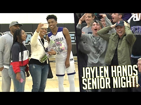 12796bbc349 Jaylen Hands Goes For 28 On Senior Night! Foothills Christian VS Orange  Glen FULL HIGHLIGHTS - YouTube