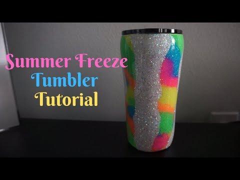 Summer Freeze Neon Glitter Tumbler