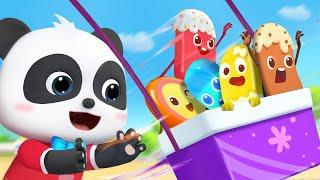 アイスクリームのブランコ遊び★アイスクリームのうた★すうじを学ぼう | 赤ちゃんが喜ぶ歌 | 子供の歌 | 童謡 | アニメ | 動画 | ベビーバス| BabyBus