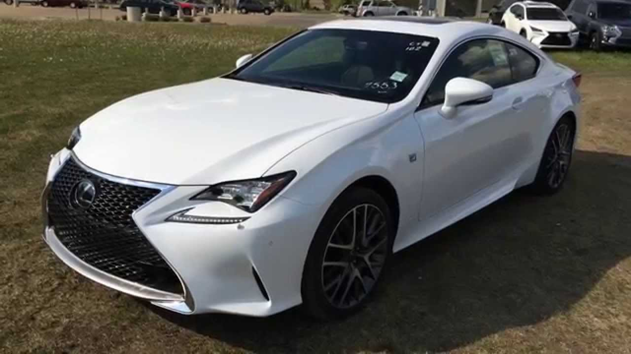 new ultra white 2015 lexus rc awd f sport series 2 review north edmonton youtube. Black Bedroom Furniture Sets. Home Design Ideas