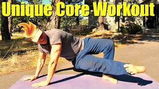 5 Unique Total Body Core and Abs Exercises - Bodyweight Only Workout