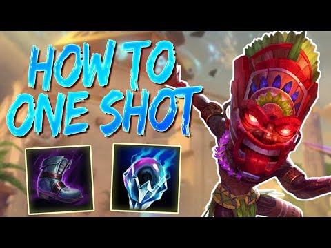 Ah Puch Solo: HOW TO ONE SHOT YOUR OPPONENT AT LEVEL 2 - Smite