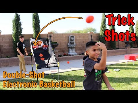 TRICK SHOTS on Double-Shot Electronic Basketball Game