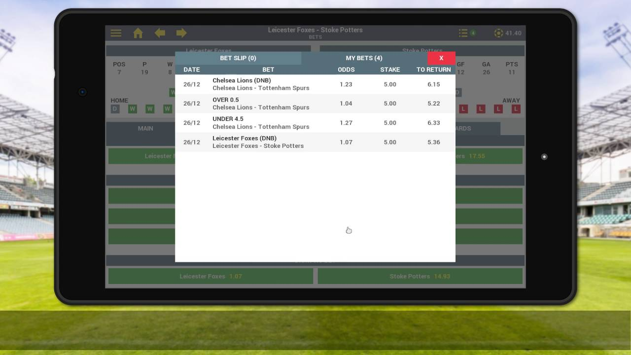 Sim Betting Football - Android and iOS mobile video game trailer (English)