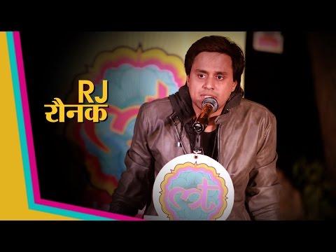 RJ Raunak telling about the invention of Bahua character | Lallantop Adda | Sahitya Aajtak