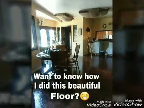 Doing a paper bag floor