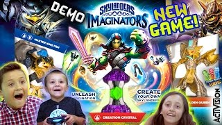 NEW SKYLANDERS IMAGINATORS Gameplay! Create Your Own DEMO w/ Starter Pack Toys (2016 Game Reveal)