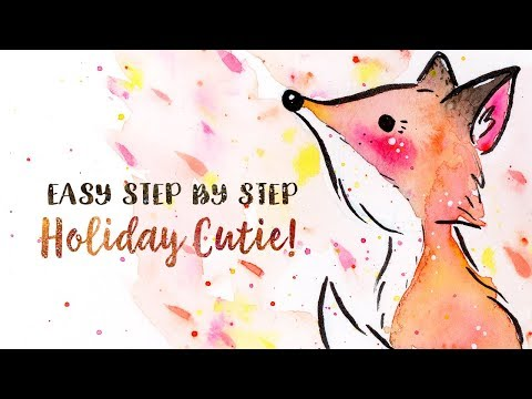 How to Draw & Paint a Cute Fox Easy Step by Step Tutorial