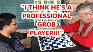 [15.13 MB] Can't Believe FM Mark Plays Grob Opening vs. A Master! NM Karl The Krusher vs. FM Mark The Duck