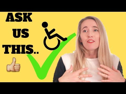 ♿️7 QUESTIONS WHEELCHAIR USERS DON'T *ACTUALLY* MIND! [CC]