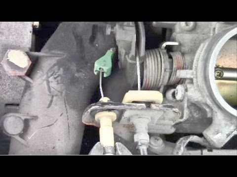 How To Remove An Accelerator Cable Youtube