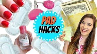 8 DIY Pad Life Hacks All Girls NEED To Know!!! | Period Life Hacks