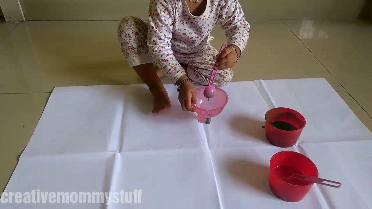 Download Funnel painting + swipe art | process art for kids
