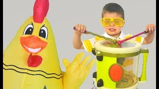 Richard Play Talent Show with Musical Instruments Toys for Kids