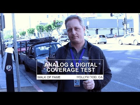 Analog and Digital Two-Way Radio Coverage Test in Hollywood, CA