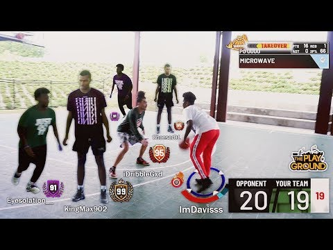 NBA 2K19 MY PARK IN REAL LIFE. ANKLE BREAKERS. 99 OVERALLS AND TAKE OVER MODE.