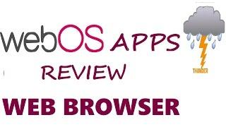WebOs Apps Review - Web Browser - LG LED Tv 3D  2014 - India - 42LB6700 / 670v / 730v