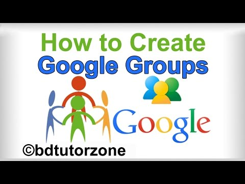How to create and operate a Group mail account in gmail