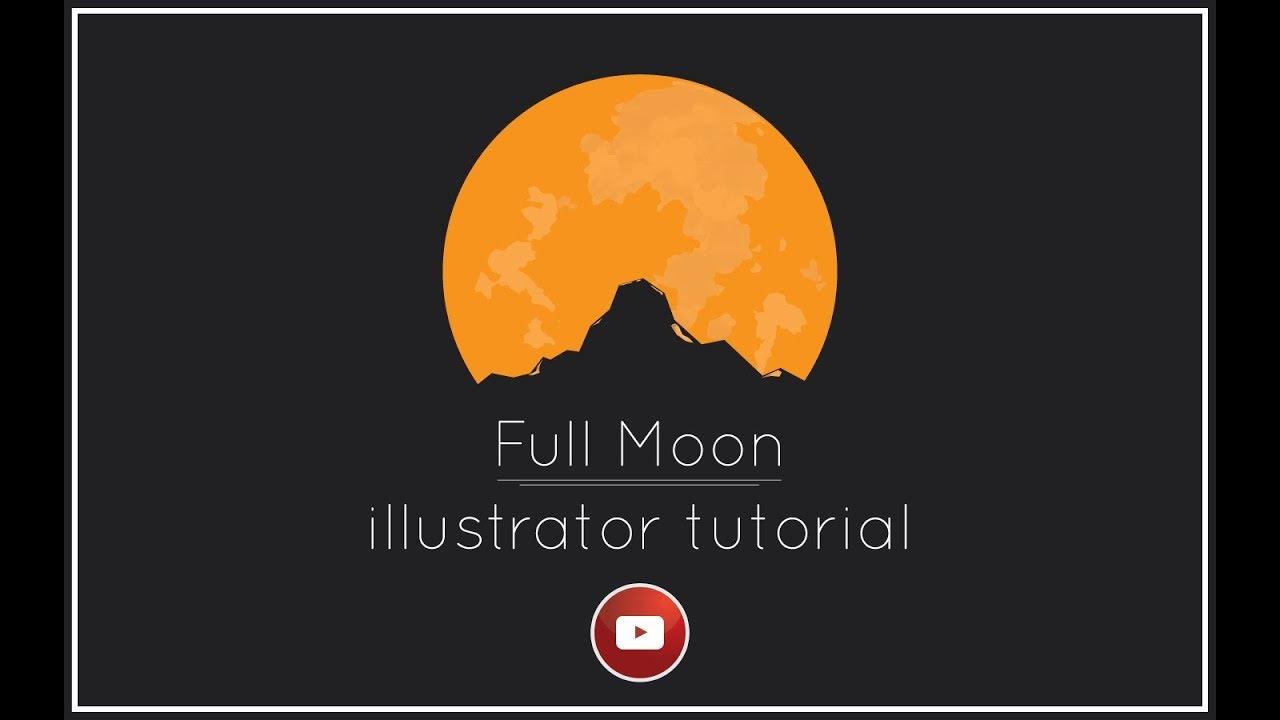 Full Moon Illustration Design