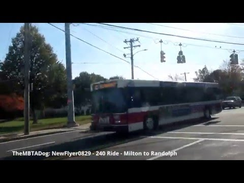 TheMBTADog: MBTA Bus 240 Ride - ASHMONT to RANDOLPH via MILTON & CRAWFORD SQUARE [New Flyer 0829]