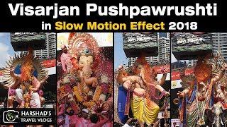 Visarjan Pushpawrushti in Slow Motion 2018 | Famous Ganpati of Lalbaug | Harshad's Travel Vlogs