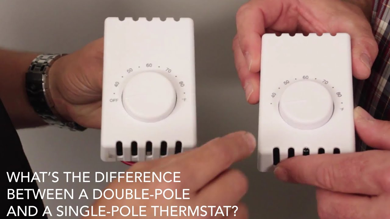 small resolution of what s the difference between a double pole and single pole thermostat cadet faq youtube