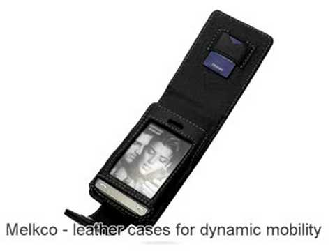 Melkco Tasche Leder Etui cuir ~Samsung SGH-P520 Armani - Flip Type (Black)