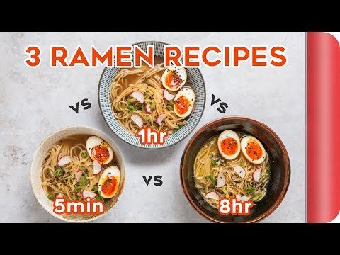 3 Ramen Recipes COMPARED (5 min vs 1 hour vs 8 hours)