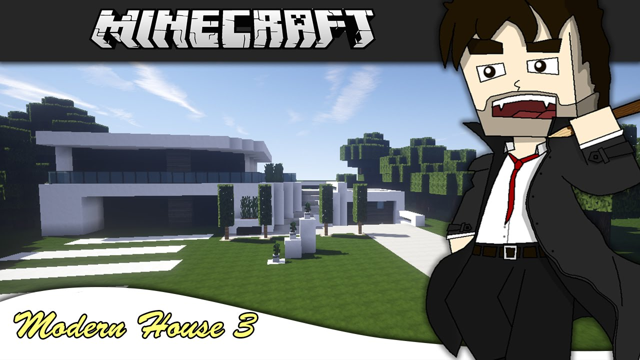Minecraft let s build modern house 3 part 1 youtube for Modern house 8 part 3