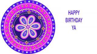 Ya   Indian Designs - Happy Birthday