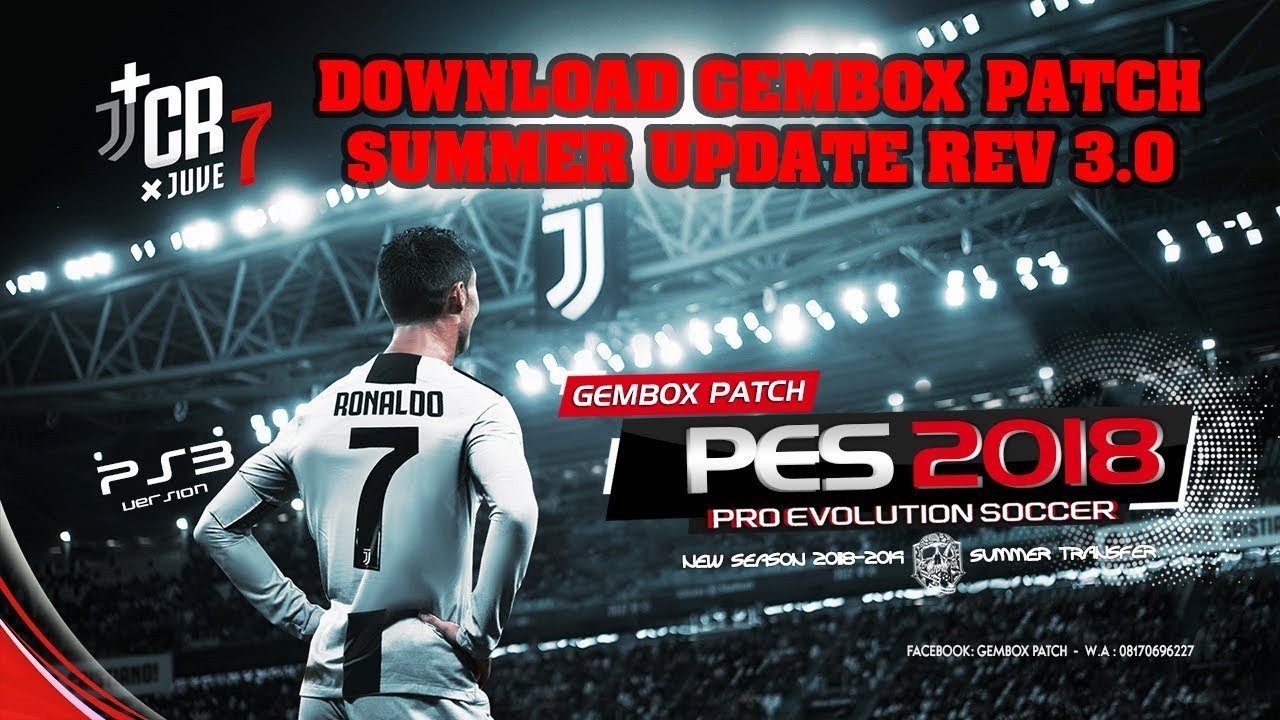 GEMBOX PATCH SUMMER 2018-2019 UPDATE REV3 0 PES 2018 PS3