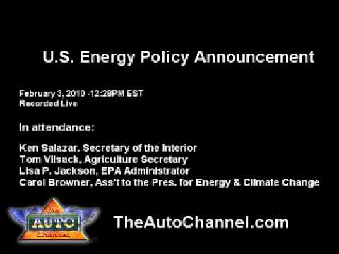 U.S. Energy Policy Announcement: ETHANOL IS OKAY! - AUDIO ONLY